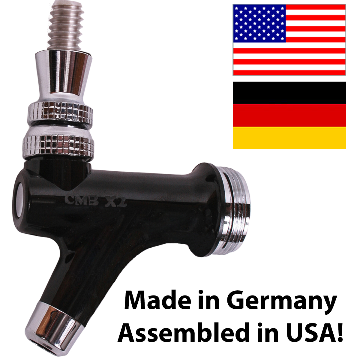 x2 Beer faucet with flags